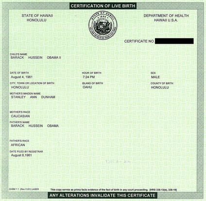Birth Certificate Forgery
